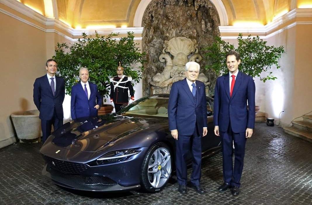 الرئيس الايطالى يحضر حفل إطلاق فيرارى روما الجديدة