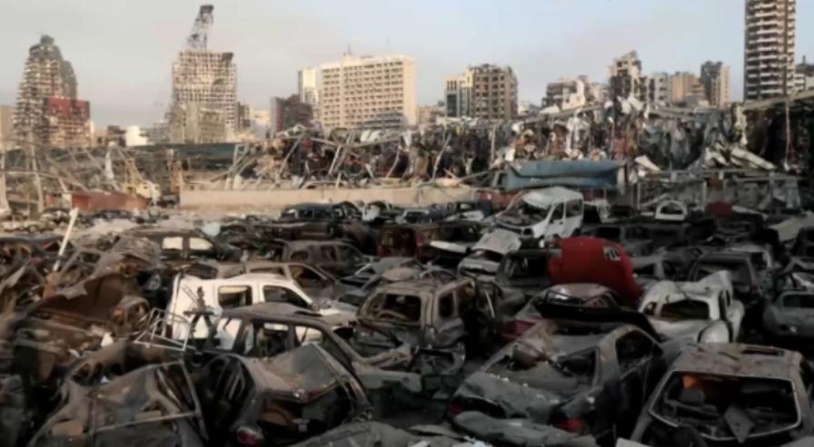 أكثر من 600 سيارة أودي 2021 دمرها انفجار مرفأ بيروت