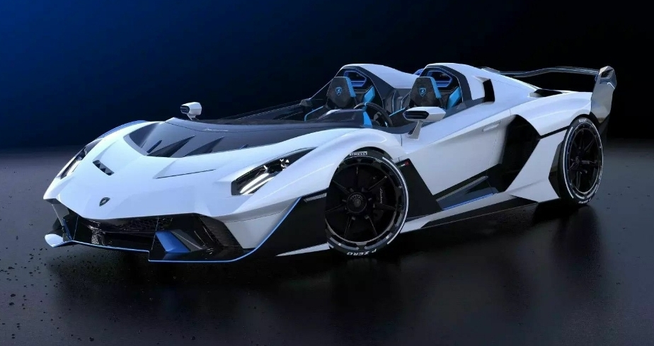 لامبورغيني تصنع سيارة واحدة من نوعها بدون زجاج أمامي وأقوى محرك 12 سلندر