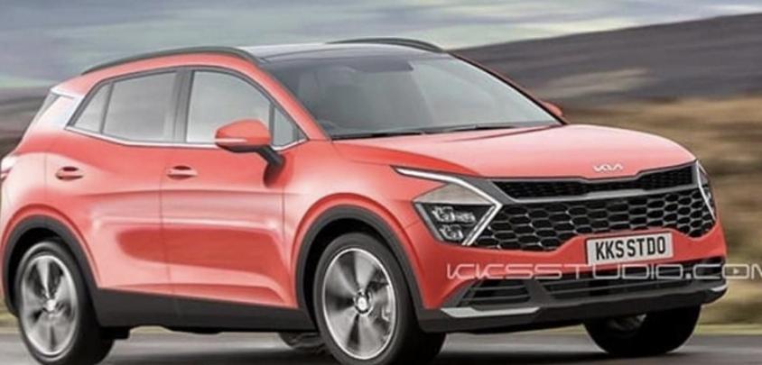 الشكل التصوري للسيارة كيا سبورتاج 2022