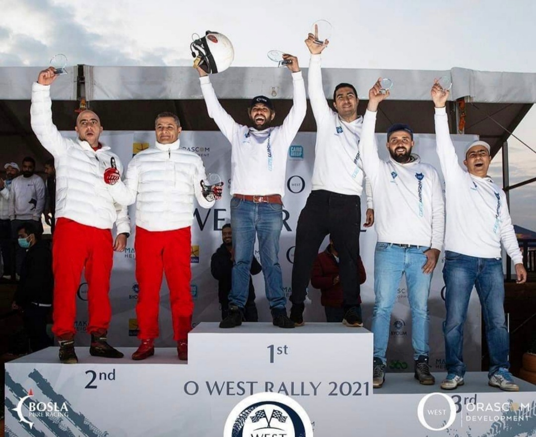 "O West تتوج فريق ""هاشم رالي"" الفائز ببطولة الجمهورية للراليات 2021"