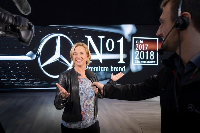 مرسيدس-بنز في المركز الأول لمبيعات فئة السيارات الفاخرة على مستوى العالم