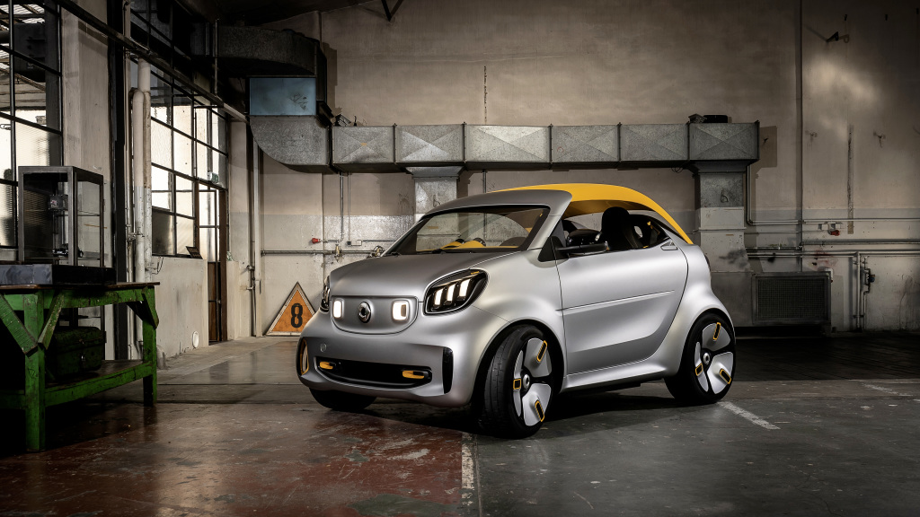 """""""سمارت"""" تقدم سيارتها الإختبارية الكهربائية (forease+) بمعرض جنيف 2019"""