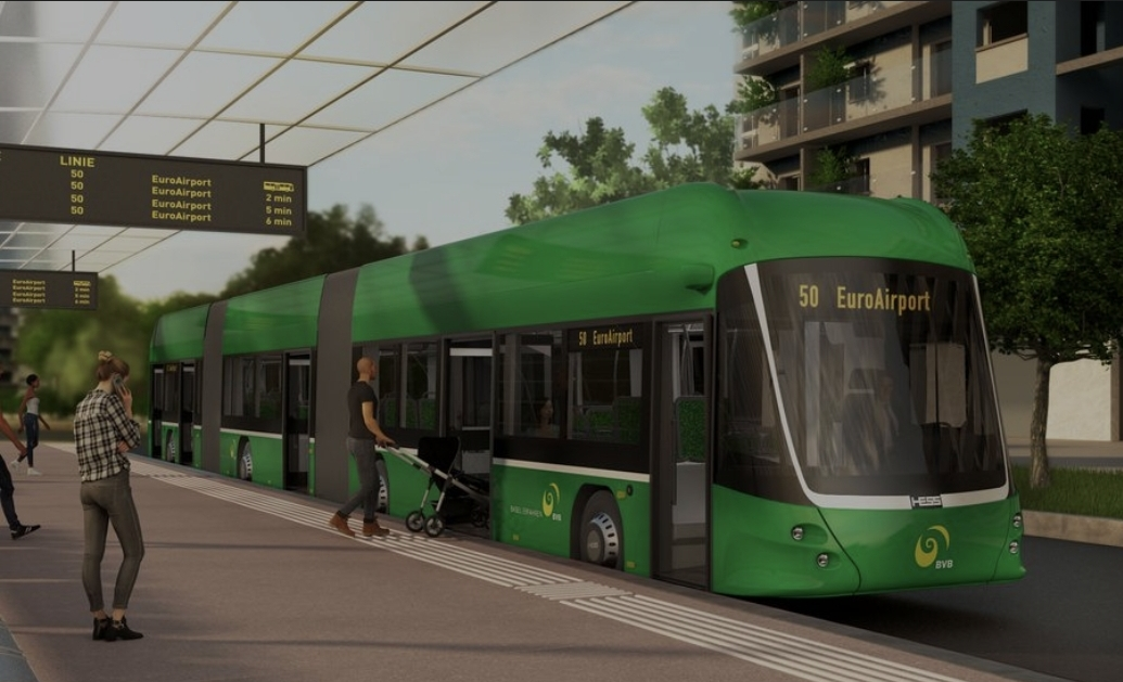 Basel orders 62 e-buses: eight 25-meter awarded to HESS (besides the 54 eCitaro)