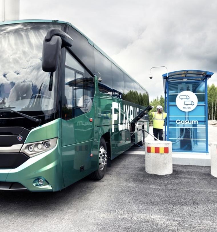 SCANIA LONG-DISTANCE 'BIOGAS' BUS MAKES SWEDISH PREMIERE