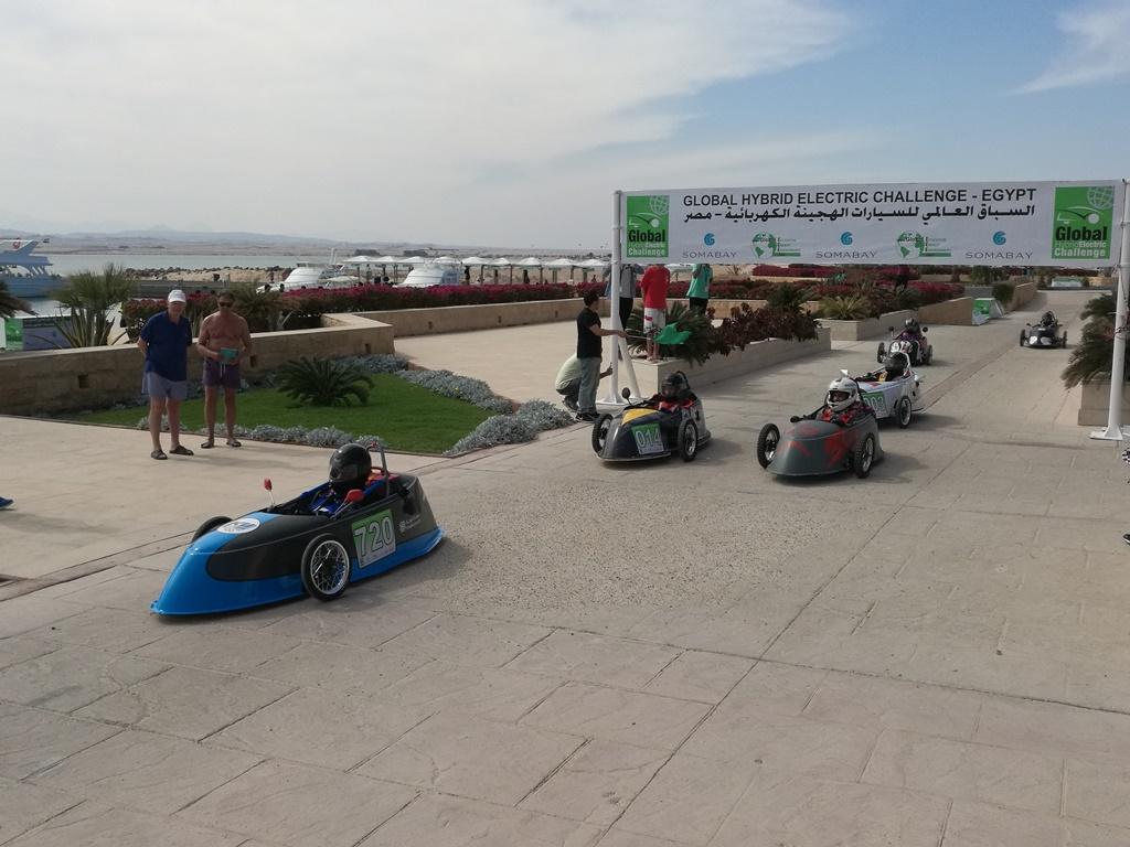فعاليات اليوم الأول لتحديات سباق الجامعات للسيارات الهايبريد الكهربائية (مصر 2019)