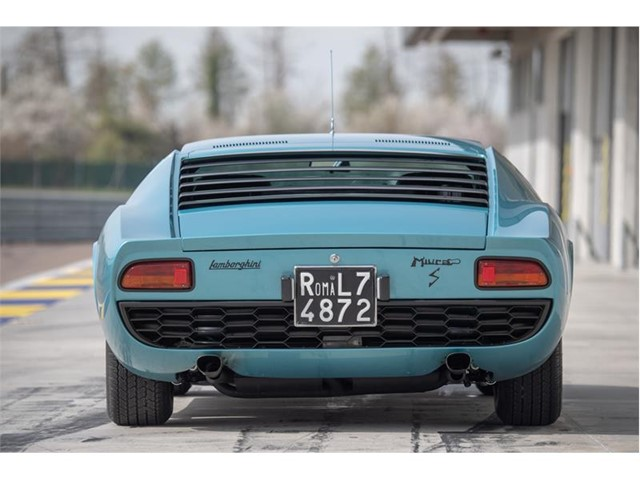 Little Tony's Miura P400 certified by Lamborghini Polo Storico at the Concorso d'Eleganza Villa d'Este 2019