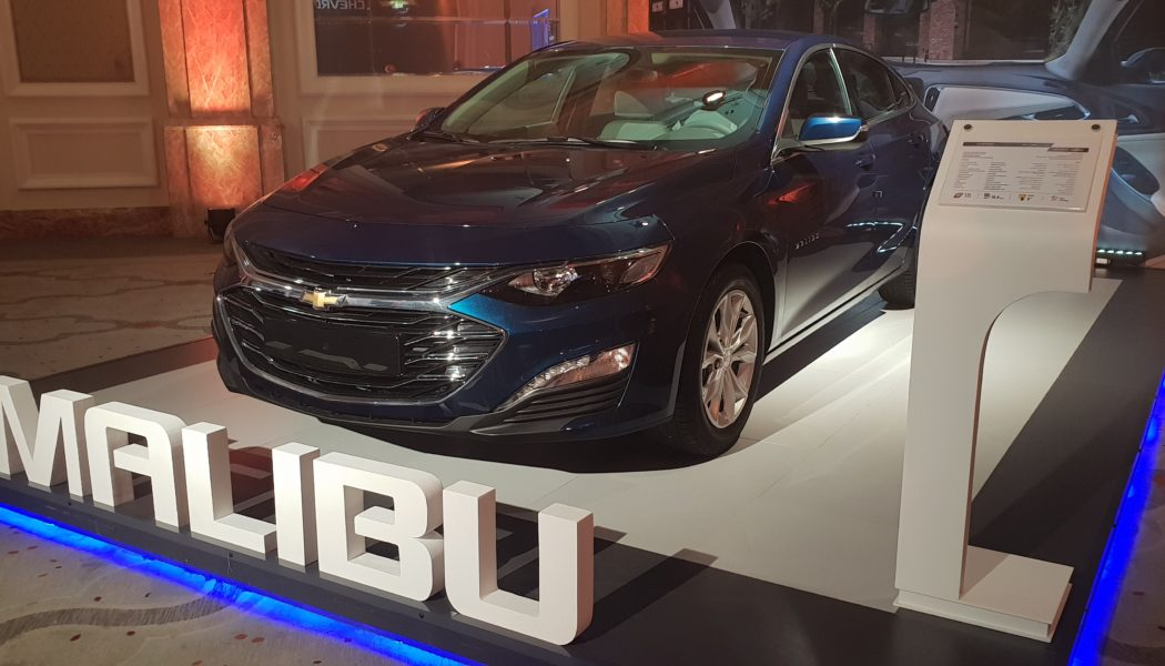 Exclusive reveal of the newly designed Chevrolet Malibu 2019 during the 25thAutomech Formula before its launch in Egypt next year