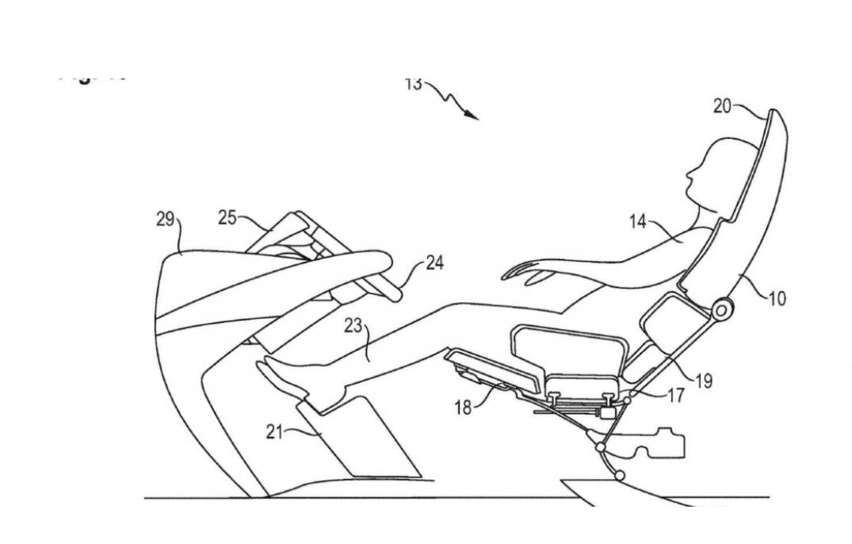براءة اختراع لمقاعد جديدة، هل هي لسيارة ذاتية القيادة؟